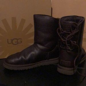 Brown leather Uggs